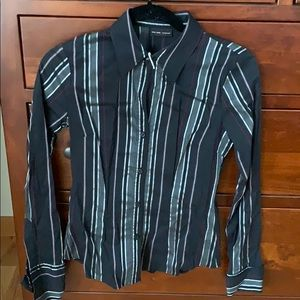 New York and Company Stretch Button Down Top